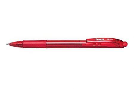 PENTEL Propiska Retactable Ball BK 417-B-červená 0,7mm