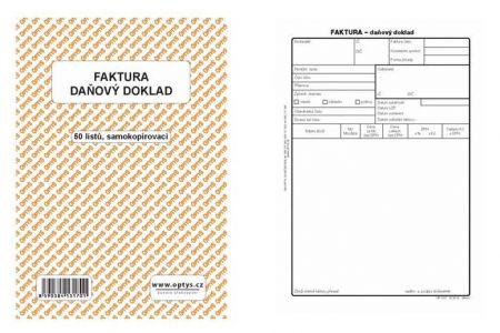 Faktura Daňový doklad A5 50 listů NCR samopropisovací OPTYS