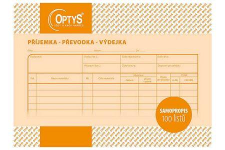 Samopropisovací příjemka, převodka, výdejka A5, 100 listů OPTYS