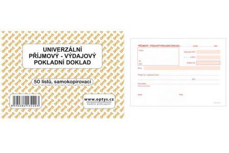 Univerzální pokladní doklad A6 50 listů samokopírovací OPTYS