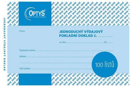 Výdajový doklad A6, jednoduchý, 100 listů OPTYS