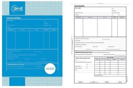Cestovní příkaz A4, 100 listů OPTYS