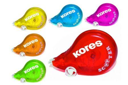KORES Scooter barevný korekční strojek 5mx4,2mm mix barev
