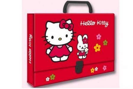 Kufřík s uchem Hello Kitty 33x24x4cm