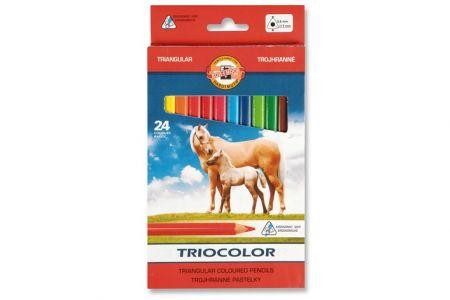 KOH-I-NOOR Pastelky lakované Triocolor 3144 24ks trojhranné