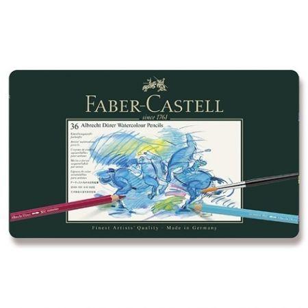 Akvarelové pastelky Faber-Castell Albrecht Dürer plechová krabička, 36 barev