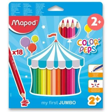 Pastelky Maped Color'Peps Jumbo 18ks