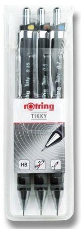 Sada mikrotužek Rotring Tikky Black hrot 0,35, 0,5 a 0,7 mm