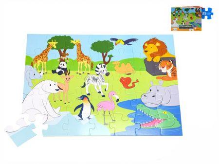 Puzzle zoo 60x44cm 35dílků v krabičce