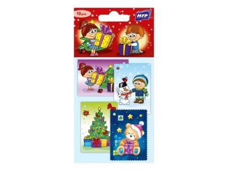 Jmenovky na dárky vánoční 10ks dětské