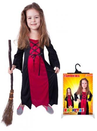 Karnevalový kostým čarodějnice/halloween bordó, vel. M