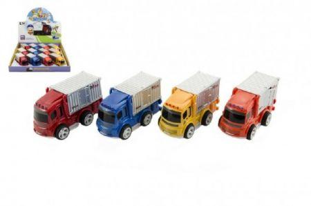 Auto nákladní kov/plast 10cm na setrvačník 12ks v boxu 18m+