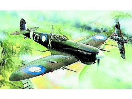 Model Supermarine Spitfire MK.VC 12,8x15,3cm v krabici 25x14,5x4,5cm