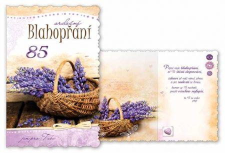 Přání k narozeninám 85 s textem M11-417 MFP