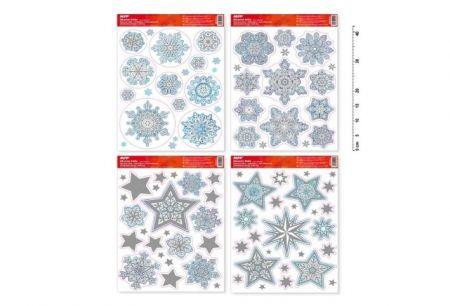 Okenní fólie vánoce glitr VA002 30x42cm