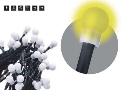 Vánoční osvětlení - 300 LED řetěz – kuličky, 30m, teplá bílá, časovač