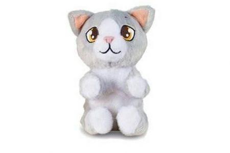 Mini Tickles plyšové zvířátko 16cm na baterie se zvukem a smějící se Šedá kočička