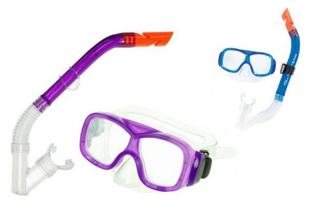 Potápěčská sada 7-14et brýle polykarbonátová skla + šnorchl v blistru 2barvy