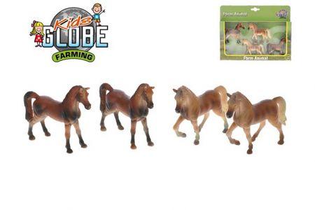 Kůň 8cm 1:32 4ks v krabičce (KIDS GLOBE)