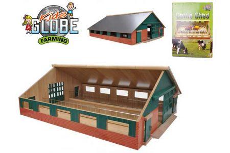Farma dřevěná 73x60x26cm 1:32 v krabičce KIDS GLOBE)