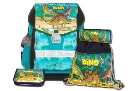 EMIPO Školní aktovkový set ERGO ONE DINO 4-dílný (školní batohový set dinosaurus)
