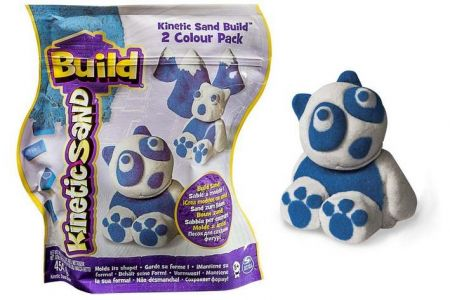 Kinetic Sand Build Panda 450g (modrá, bílá)