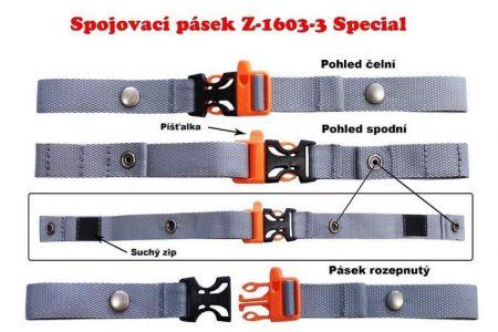 A-Spojovací prsní pásek s Univerzal pro školní batohy a aktovky - pro řemeny do šiře 70 mm