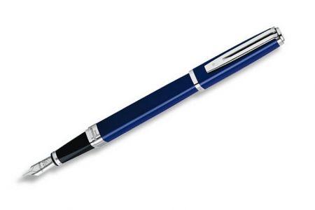 WATERMAN Exception Slim Blue Lacquer ST plnicí pero Hrot M (plnící)