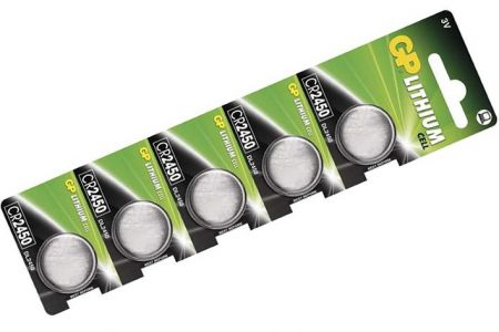 -Baterie knoflíková 5 kusů GP CR2450 na blistru Lithiová knoflíková baterie 2450 - 3V