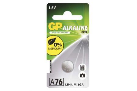 -Baterie knoflíková 1 kus GP LR44 (A76F - A76)na blistru Alkalická knoflíková baterie 1,5V
