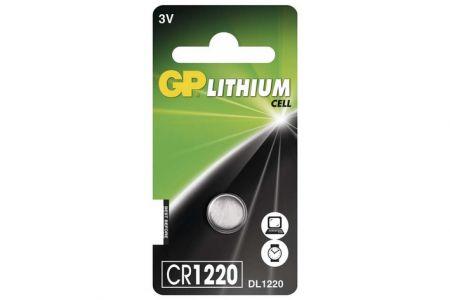 -Baterie knoflíková 1 kus GP CR1220 na blistru Lithiová knoflíková baterie 1220 - 3V
