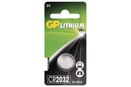 -Baterie knoflíková 1 kus GP CR2032 na blistru Lithiová knoflíková baterie 2032 - 3V