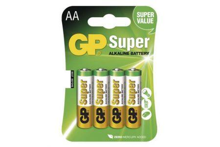 -Baterie AA tužková 1,5V 4 kusy GP Super blistr (GP LR6) Alkalická baterie