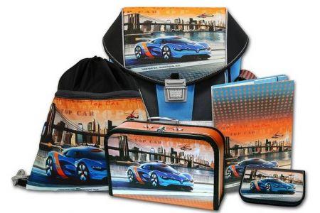 EMIPO Školní aktovkový set ERGO ONE Top Car 5-dílný (školní batohový set auto)