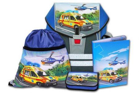EMIPO Školní aktovkový set ERGO ONE ZÁCHRANÁŘI 4-dílný (školní batohový set)(Rescuer)