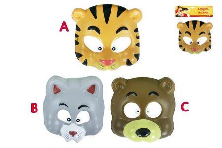 Maska plastová zvířátka veselá 3 druhy