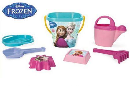 WADER 77942 Set na písek 7ks Ledové království - Frozen v síťce 12m+