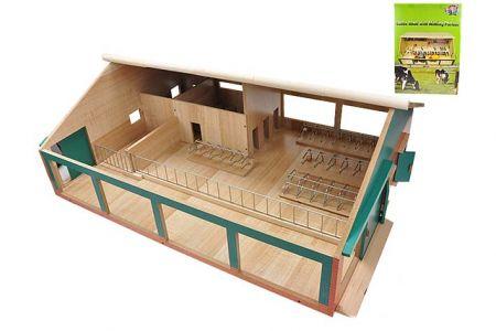 Kravín s dojírnou dřevěný 75x60x26,5cm 1:32 v krabičce (KIDS GLOBE)
