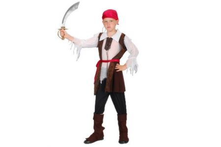 Kostým na karneval Pirát 120-130cm 5-9 let (šaty na karneval)