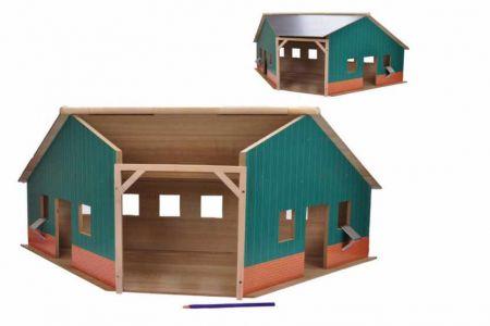 Garáž/farma dřevěná 1:16 (KIDS GLOBE)