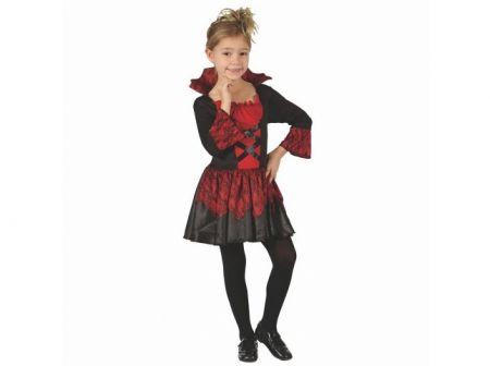 Šaty na karneval - Upírka, 120 - 130 cm (Kostým na karneval)