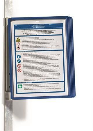 """Prezentační kapsa """"VARIO® 5 MAGNETIC"""", tmavě modrá, magnetická, nástěnná, 5 kapes, DURABLE"""