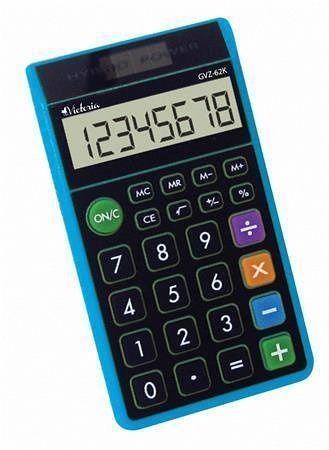 """Kalkulačka kapesní """"GVZ-62K"""", modrá, 8místný displej, VICTORIA"""