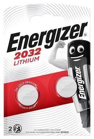 Baterie knoflíková, CR2032, 2 ks v balení, ENERGIZER