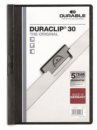 """Desky s rychlovazačem """"DURACLIP® 30"""", černá, s klipem, A4, DURABLE"""
