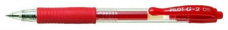 "Gelové pero ""G-2"", červená, 0,25mm, PILOT"