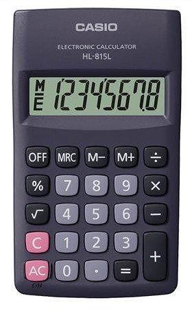 """Kalkulačka kapesní, 8místný displej, CASIO """"HL-815"""""""