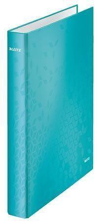 "Pořadač čtyřkroužkový ""Active Wow"", ledově modrá, polaminovaný karton, 40 mm, LEITZ"