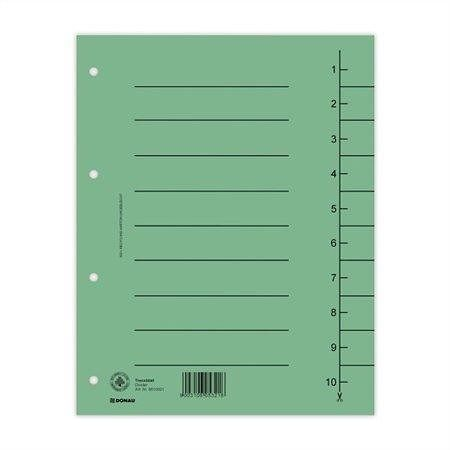 Rozlišovače, zelené, karton, A4, DONAU