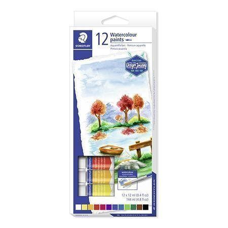 """Temperové barvy """"Design Journey"""", 12 barev, 12ml, STAEDTLER"""